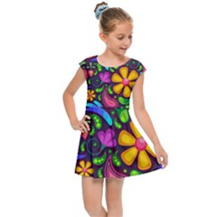 Flower Power! Kids  Cap Sleeve Dress by TimelessFashion