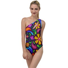 Flower Power! To One Side Swimsuit by TimelessFashion