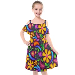Flower Power! Kids  Cut Out Shoulders Chiffon Dress by TimelessFashion