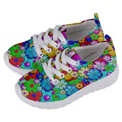 Flower With A Lot Of Power Kids  Lightweight Sports Shoes by TimelessFashion