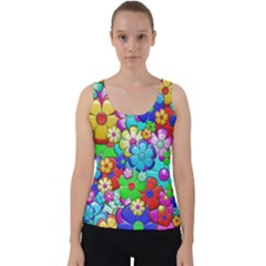 Flower With A Lot Of Power Velvet Tank Top