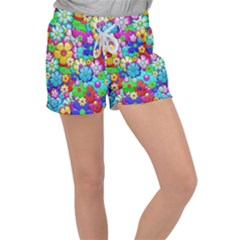 Flower With A Lot Of Power Women s Velour Lounge Shorts by TimelessFashion