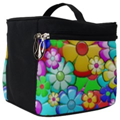 Flower With A Lot Of Power Make Up Travel Bag (big) by TimelessFashion