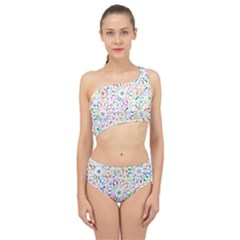 Boho Flowers Spliced Up Two Piece Swimsuit by TimelessFashion