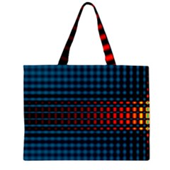 Signal Background Pattern Light Texture Zipper Large Tote Bag