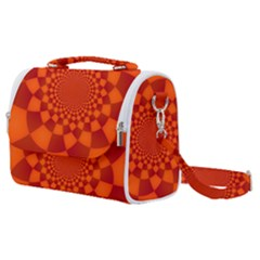 Fractal Artwork Abstract Background Orange Satchel Shoulder Bag