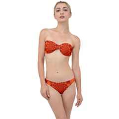 Fractal Artwork Abstract Background Orange Classic Bandeau Bikini Set