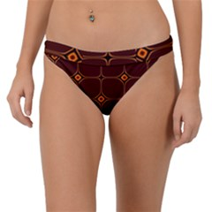 Background Pattern Design Geometric Brown Band Bikini Bottom