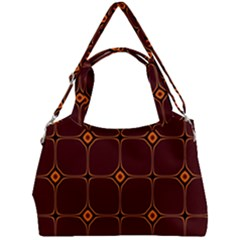 Background Pattern Design Geometric Brown Double Compartment Shoulder Bag