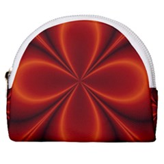 Abstract Background Design Red Horseshoe Style Canvas Pouch