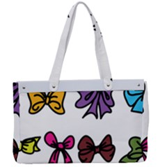 Bows Cartoon Ribbon Canvas Work Bag