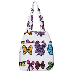 Bows Cartoon Ribbon Center Zip Backpack