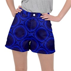 Abstract Background Design Blue Black Ripstop Shorts