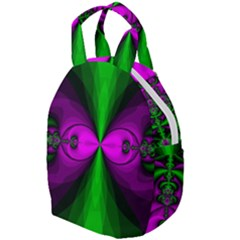 Abstract Artwork Fractal Background Green Purple Travel Backpacks