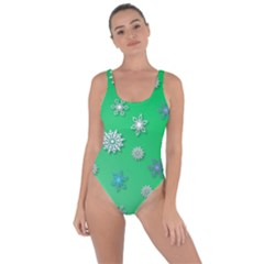 Snowflakes Winter Christmas Green Bring Sexy Back Swimsuit