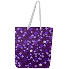 Ross Pattern Square Full Print Rope Handle Tote (large)
