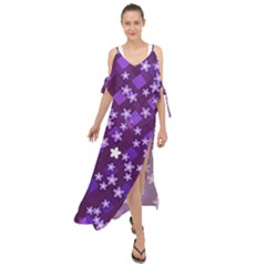 Ross Pattern Square Maxi Chiffon Cover Up Dress by HermanTelo