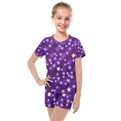 Ross Pattern Square Kids  Mesh Tee And Shorts Set