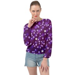 Ross Pattern Square Banded Bottom Chiffon Top