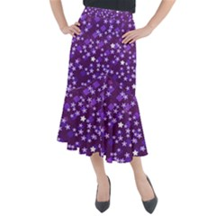 Ross Pattern Square Midi Mermaid Skirt