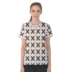 Pattern Orange Women s Cotton Tee
