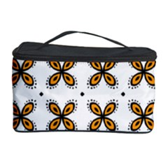 Pattern Orange Cosmetic Storage