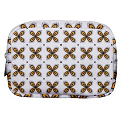 Pattern Orange Make Up Pouch (small)