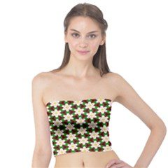 Pattern Flowers White Green Tube Top by HermanTelo