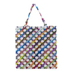 Rings Geometric Circles Random Grocery Tote Bag