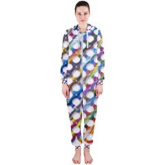 Rings Geometric Circles Random Hooded Jumpsuit (ladies)
