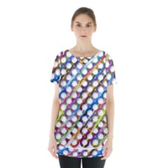 Rings Geometric Circles Random Skirt Hem Sports Top by HermanTelo