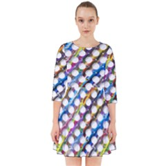 Rings Geometric Circles Random Smock Dress