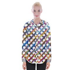 Rings Geometric Circles Random Womens Long Sleeve Shirt
