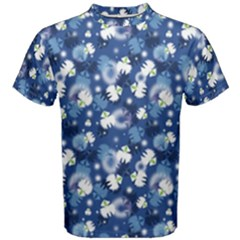 White Flowers Summer Plant Men s Cotton Tee by HermanTelo