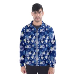 White Flowers Summer Plant Men s Windbreaker