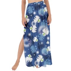 White Flowers Summer Plant Maxi Chiffon Tie Up Sarong