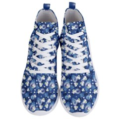 White Flowers Summer Plant Men s Lightweight High Top Sneakers