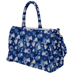 White Flowers Summer Plant Duffel Travel Bag by HermanTelo