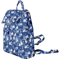 White Flowers Summer Plant Buckle Everyday Backpack