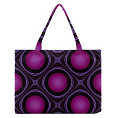 Abstract Background Design Purple Zipper Medium Tote Bag by Sudhe