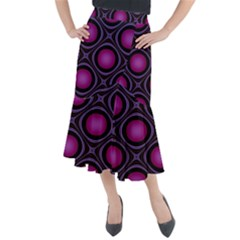 Abstract Background Design Purple Midi Mermaid Skirt
