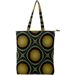 Abstract Background Design Double Zip Up Tote Bag