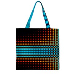 Signal Background Pattern Light Zipper Grocery Tote Bag