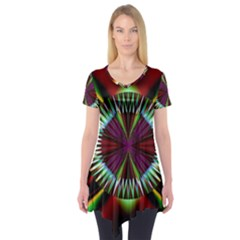 Artwork Fractal Allegory Art Short Sleeve Tunic