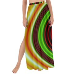 Digital Art Background Yellow Red Maxi Chiffon Tie Up Sarong