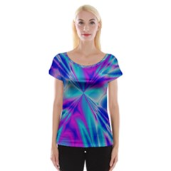 Background Design Pattern Colorful Cap Sleeve Top