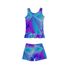 Background Design Pattern Colorful Kids  Boyleg Swimsuit