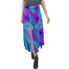 Background Design Pattern Colorful Velour Split Maxi Skirt