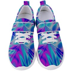 Background Design Pattern Colorful Women s Velcro Strap Shoes