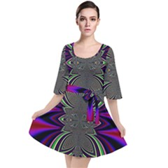 Abstract Artwork Fractal Background Pattern Velour Kimono Dress